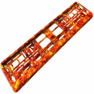 FIRE STYLE NUMBER PLATE HOLDER