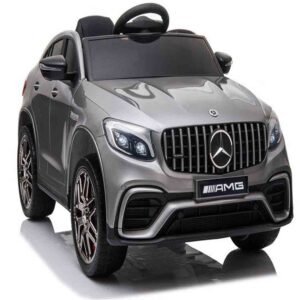 Licensed Mercedes Benz GLC63S 12V Electric Ride on Kids Car with Remote Control – Metallic Grey