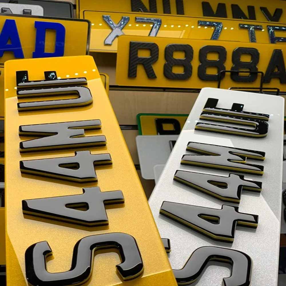 4D White Number Plates for sale